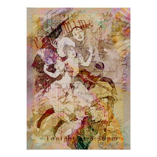 The Dancer and the Pierrot Christmas Posters
