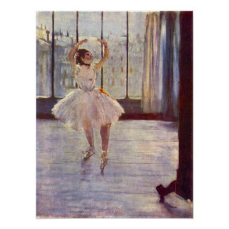 The dancer at the photographer by Edgar Degas Poster