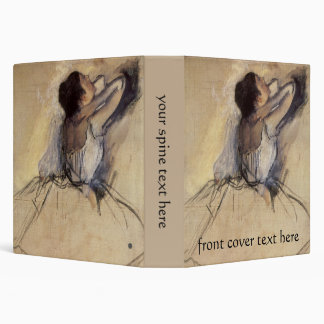 The Dancer by Edgar Degas, Vintage Ballerina Art 3 Ring Binder