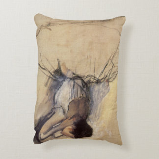 The Dancer by Edgar Degas, Vintage Ballerina Art Accent Pillow