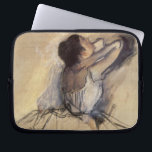 "The Dancer by Edgar Degas, Vintage Ballerina Art Computer Sleeve<br><div class=""desc"">The Dancer (1874) by Edgar Degas is a vintage impressionist fine art portrait painting. A beautiful ballet dancer in repose, stretching before a performance. Study of a ballerina wearing a tutu dress with her hands behind her head. Earthy beige and brown warm colors and tones. About the artist: Edgar Degas...</div>"