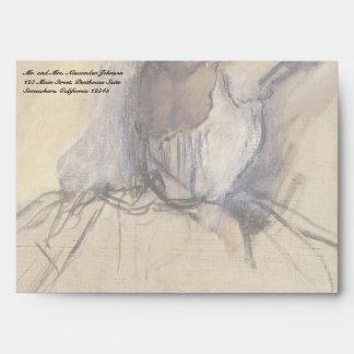 The Dancer by Edgar Degas, Vintage Ballerina Art Envelope