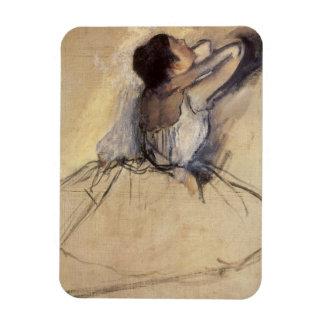 The Dancer by Edgar Degas, Vintage Ballerina Art Magnet