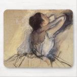 The Dancer by Edgar Degas, Vintage Ballerina Art Mouse Pad