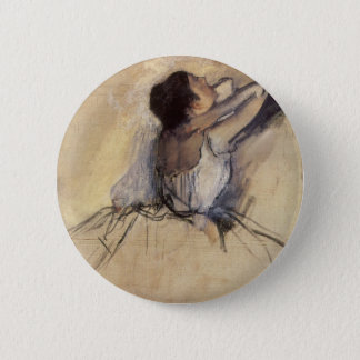 The Dancer by Edgar Degas, Vintage Ballerina Art Pinback Button