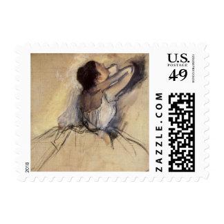 The Dancer by Edgar Degas, Vintage Ballerina Art Postage Stamp