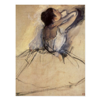 The Dancer by Edgar Degas, Vintage Ballerina Art Postcard