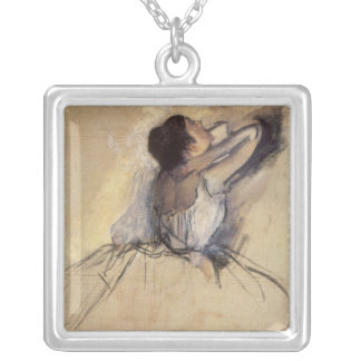 The Dancer by Edgar Degas, Vintage Ballerina Art Silver Plated Necklace