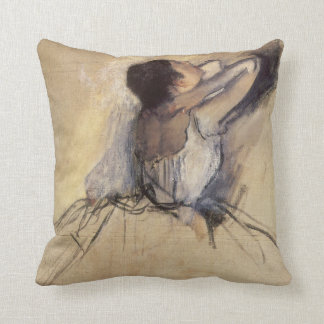 The Dancer by Edgar Degas, Vintage Ballerina Art Throw Pillow