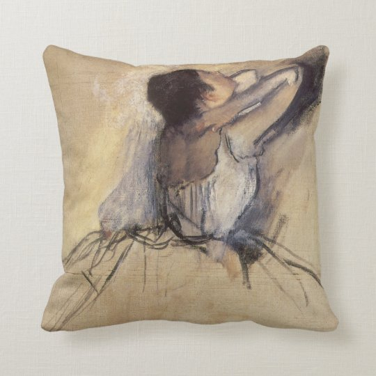 The Dancer by Edgar Degas, Vintage Ballerina Art Throw Pillow