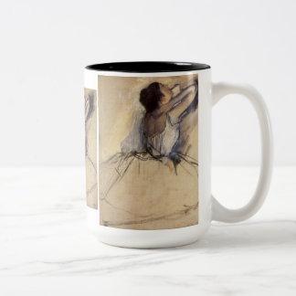 The Dancer by Edgar Degas, Vintage Ballerina Art Two-Tone Coffee Mug
