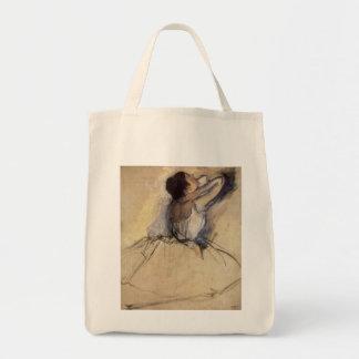 The Dancer by Edgar Degas, Vintage Ballet Art Canvas Bags