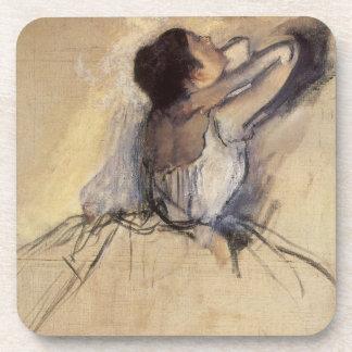 The Dancer by Edgar Degas, Vintage Ballet Art Drink Coaster