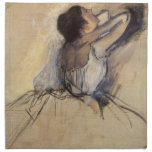 The Dancer by Edgar Degas, Vintage Ballet Art Printed Napkin