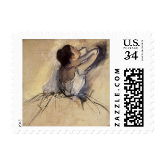 The Dancer by Edgar Degas, Vintage Ballet Art Stamps