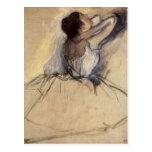 The Dancer by Edgar Degas, Vintage Ballet Art Postcards