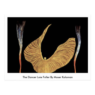 The Dancer Loie Fuller By Moser Koloman Postcard