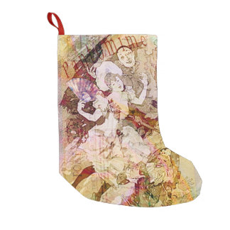 The Dancer & The Pierrot Small Christmas Stocking
