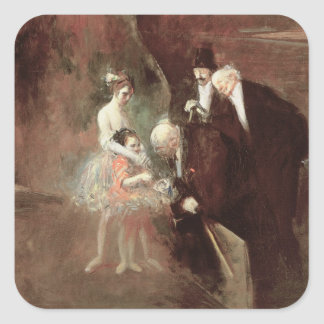 The Dancers, c.1925 (oil on canvas) Square Sticker