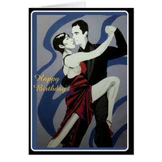 'the Dancers' painting on a Birthday Card