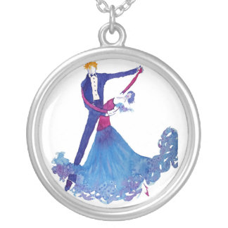 The Dancers Silver Plated Necklace