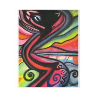 The Dancing Cat Canvas Print