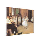 The Dancing Class by Edgar Degas, Vintage Ballet Gallery Wrapped Canvas