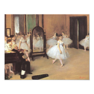 The Dancing Class by Edgar Degas, Vintage Ballet Card