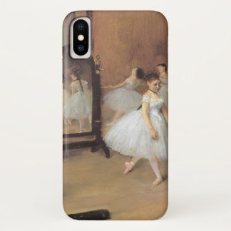 The Dancing Class by Edgar Degas, Vintage Ballet iPhone X Case