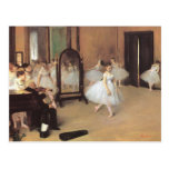 The Dancing Class by Edgar Degas, Vintage Ballet Postcard