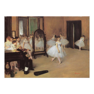 The Dancing Class by Edgar Degas, Vintage Ballet Poster