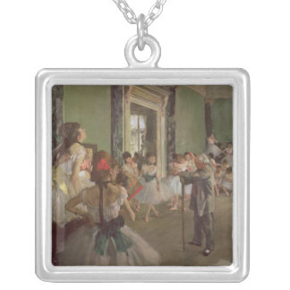 The Dancing Class, c.1873-76 Square Pendant Necklace