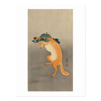 The Dancing Fox Post Card