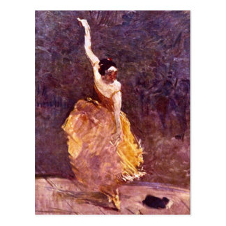 The Dancing Girl by Toulouse-Lautrec Postcard