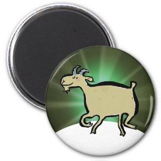 The dancing goat 2 inch round magnet
