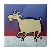 The dancing goat ceramic tile