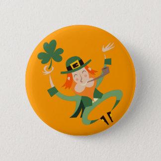 The Dancing Leprechaun Button