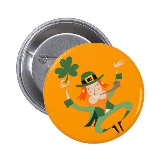 The Dancing Leprechaun Buttons