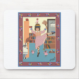 The Dancing Librarian Mouse Pad