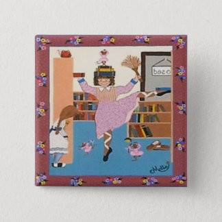 The Dancing Librarian Pinback Button