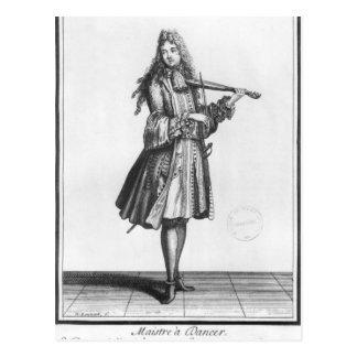 The dancing master postcard