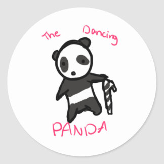 The Dancing Panda CandyCane Stickers