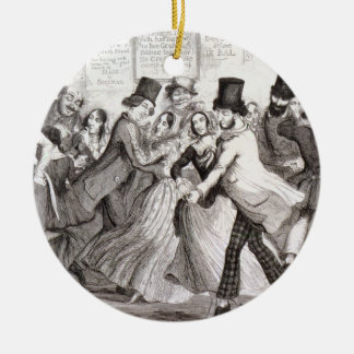 The Dancing Rooms, plate 3 of 'The Drunkard's Chil Ceramic Ornament