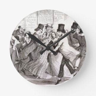 The Dancing Rooms, plate 3 of 'The Drunkard's Chil Round Clock