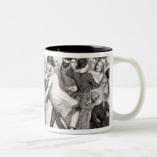 The Dancing Rooms, plate 3 of 'The Drunkard's Chil Two-Tone Coffee Mug