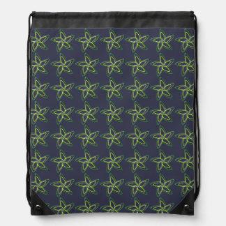 The Dancing Star Flower Drawstring Backpack