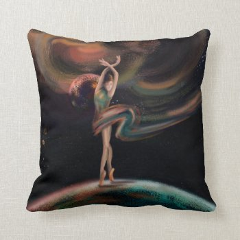 The dancing universe throw pillow
