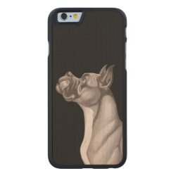 Carved ® iPhone 6 Bumper Wood Case with Great Dane Phone Cases design