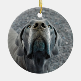 The Dane Nose Double-Sided Ceramic Round Christmas Ornament