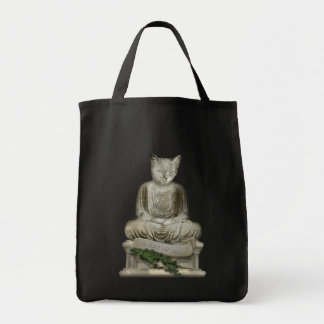 The Dao of Meow Grocery Tote Bag